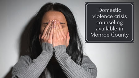 Domestic Violence crisis Counseling available in Monroe County
