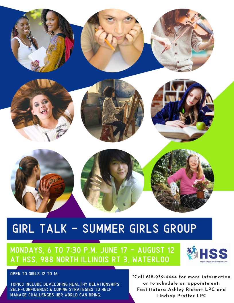Girl talk summer girls group flyer