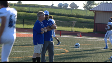 Coach Mike and CHS Athletic Director Scott Horner