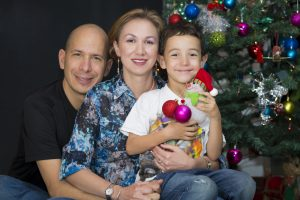 Portrait of family, Happy Family enjoying at home at Christmas